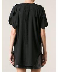 Iro Black Layered Tshirt - Lyst
