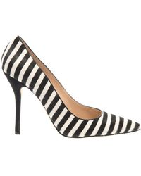 Oscar de la Renta Stacy Striped Calfhair Pumps - Lyst