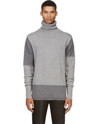 McQ by Alexander McQueen Grey Mixed Wool Turtleneck - Lyst