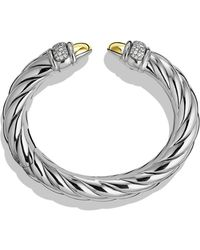 David Yurman Waverly Bracelet with Gold Domes and Diamonds - Lyst