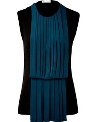 Vionnet Pleated Sleeveless Top - Lyst