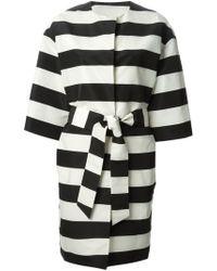 MSGM Striped Coat - Lyst