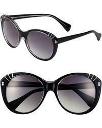 Alexander McQueen 57Mm Retro Sunglasses - Lyst