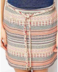 Sessun Mini Skirt In Aztec Tapestry - Lyst