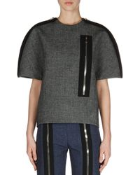 Balenciaga Shortsleeve Zipper Top - Lyst