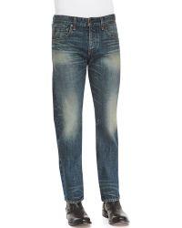 Rag & Bone Faded Wash Denim Jeans - Lyst
