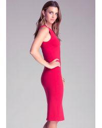 Bebe Bodycon Midi Dress - Lyst