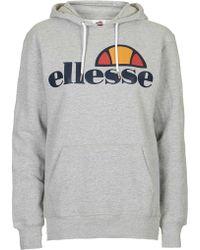 Topshop | Oversized Hoodie By Ellesse | Lyst