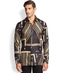 Versace Dragonfly Chain Sportshirt - Lyst