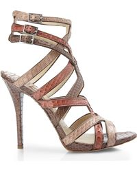 Brian Atwood Carbinia Cage Sandals - Lyst