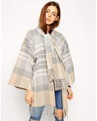 Asos Blanket Wrap Coat - Lyst