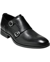 Cole Haan Copley Leather Double Monk Strap Loafers - Lyst