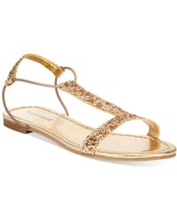 Rampage Patience Flat Sandals gold - Lyst