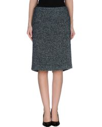 Gucci Knee Length Skirt green - Lyst