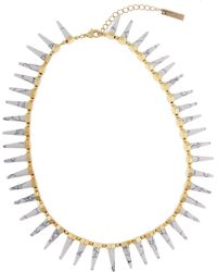 Rachel Zoe 12K Gold Cleo Spike Necklace - Lyst