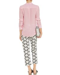 Sandro Chanson Washed-Silk Shirt pink - Lyst