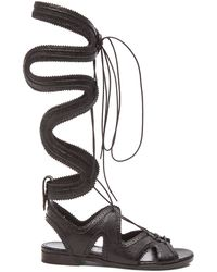 Nicholas Kirkwood X Erdem Gladiator Lace Up Leather Sandals - Lyst