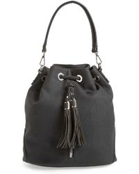 Phase 3 - Tassel Faux Leather Convertible Bucket Bag/backpack - Lyst