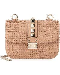Valentino   Lock Small Floral-Embellished Shoulder Bag   Lyst