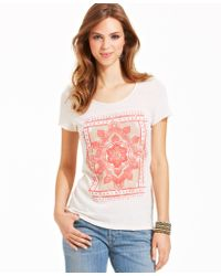 Lucky Brand Jeans Lucky Brand Tribal-Print Tee - Lyst