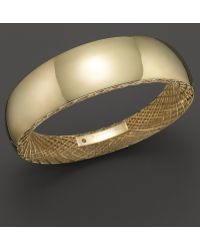 Roberto Coin - 18k Yellow Gold Golden Gate Wide Bangle - Lyst