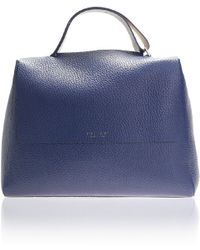 Orciani - Blue Sveva Big Leather Bag - Lyst