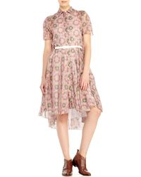 Hache Printed Shirtdress - Lyst