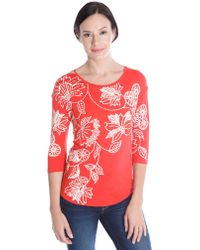 Lucky Brand Dot Floral Print Top - Lyst