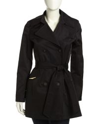 Via Spiga Doublebreasted Golden Hardware Trench Coat - Lyst