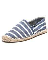 Soludos Mens Classic Stripe Original blue - Lyst