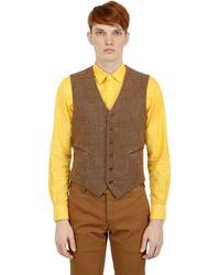 Boglioli Cotton & Linen Blend Basketweave Vest - Lyst
