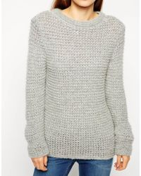 Asos Jumper In Chunky Mohair Stitch - Lyst
