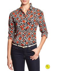 Banana Republic Factory Print Military Pocket Top - Lyst