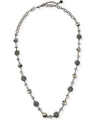 R.j. Graziano - Long Crystal Bead Necklace - Lyst