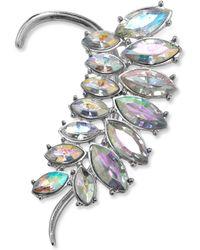 Material Girl - Silvertone Crystal Ear Cuff - Lyst