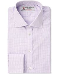 Turnbull & Asser Regular-Fit Check Print Shirt - For Men, Palevioletred purple - Lyst