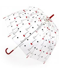 Lulu Guinness | Birdcage Two Face Print Umbrella | Lyst