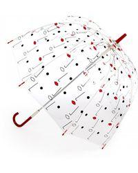 Lulu Guinness Birdcage Two Face Print Umbrella - Lyst