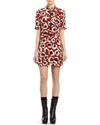 Gucci Leopard Print Crepe De Chine Dress - Lyst