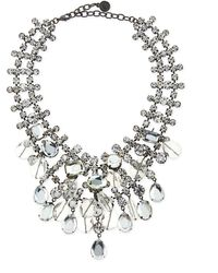 R.j. Graziano - Beaded Crystal Statement Necklace - Lyst