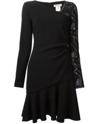 Emilio Pucci Lace Sleeve Dress - Lyst