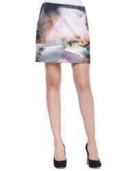 Ted Baker Silloh Waterfall Knit Mini Skirt - Lyst