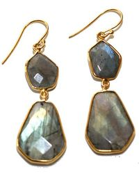 Argento Vivo - Double Geo Stone Drop Earrings - Lyst