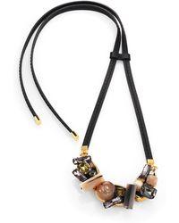 Marni Multi-Stone Cluster Necklace black - Lyst