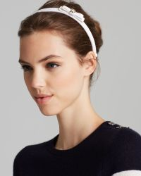 Ferragamo Thin Headband with Bow - Lyst