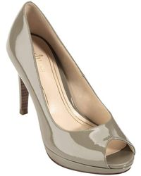 Cole Haan Chelsea Patent Leather Peep Toe Pumps - Lyst
