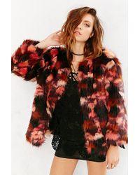 Ecote - Molly Faux-Fur Coat - Lyst