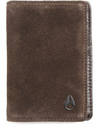 Nixon Suzuka Card Brown Card Wallet - Lyst