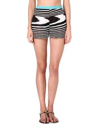 Missoni Patterned Shorts Blackwhite - Lyst