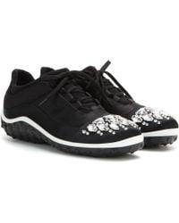 Miu Miu Embellished Sneakers - Lyst